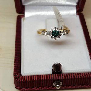 A promise Ring with Genuine Austrian Crystals 4mm